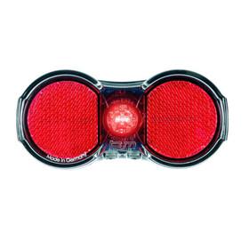 Busch + Müller Toplight Flat plus Dynamo-Rücklicht schwarz/rot